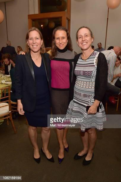 Susan Wojcicki Anne Wojcicki Janet Wojcicki attend VIP Dinner For WIRED's 25th Anniversary Hosted By Nicholas Thompson And Anna Wintour at Tartine...