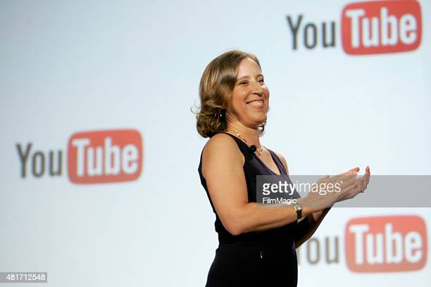 Susan Wojcicki, CEO of YouTube delivers her keynote at #VidCon at Anaheim Convention Center on July 23, 2015 in Anaheim, California.