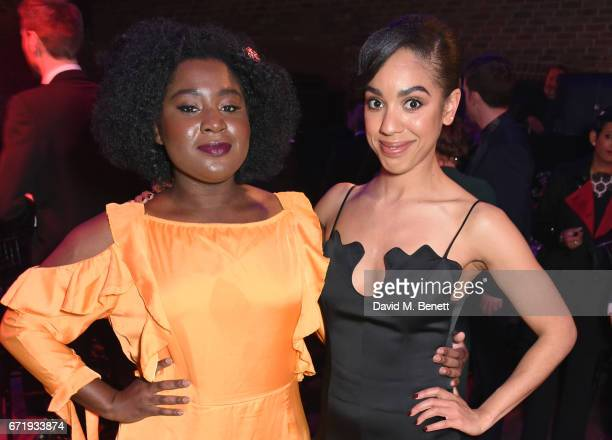 Susan Wokoma and Pearl Mackie attend the British Academy Television Craft Awards at The Brewery on April 23 2017 in London United Kingdom