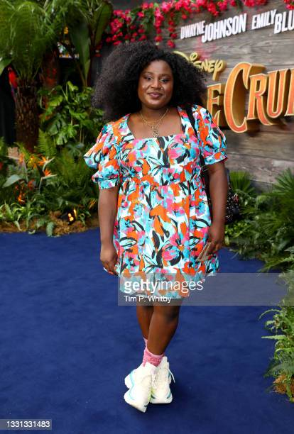 """Susan Wokoma attends Disney's """"Jungle Cruise"""" special screening at Cineworld Leicester Square on July 29, 2021 in London, England."""