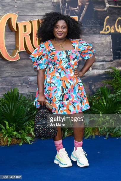 """Susan Wokoma attends Disney's """"Jungle Cruise"""" UK premiere at Cineworld Leicester Square on July 29, 2021 in London, England."""