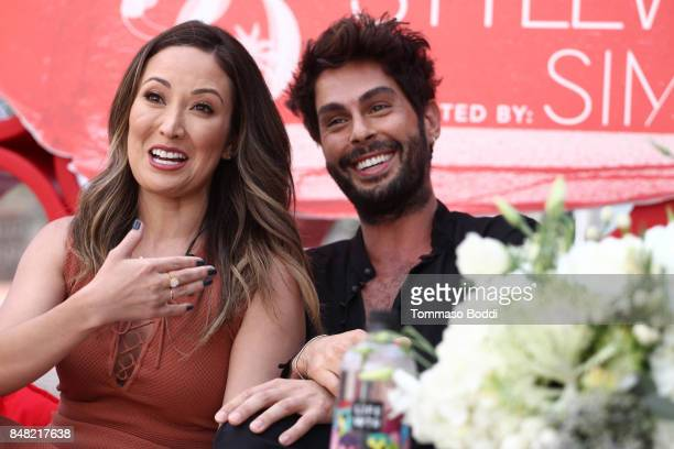 Susan Yara and Joey Maalouf attend the Fashion Island's StyleWeekOC Presented By SIMPLY on September 16 2017 in Newport Beach California