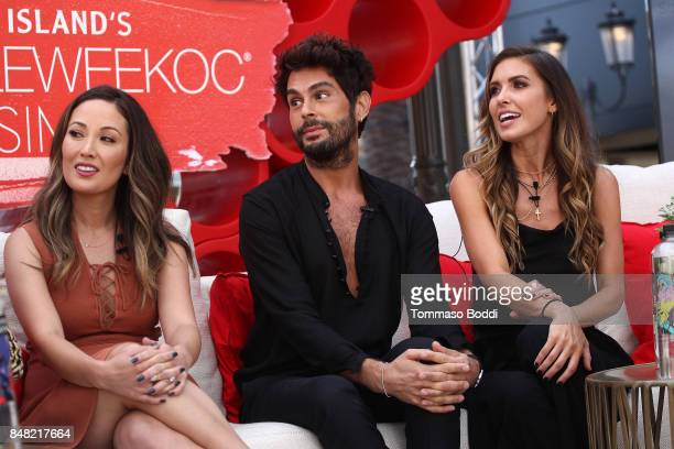 Susan Yara Joey Maalouf and Audrina Patridge attend the Fashion Island's StyleWeekOC Presented By SIMPLY on September 16 2017 in Newport Beach...