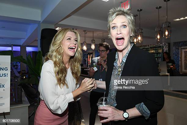 Susan Yeagley and Jane Lynch attend W Magazine NKPR IT House x Producers Ball Studio at IT Lounge on September 9 2016 in Toronto Canada