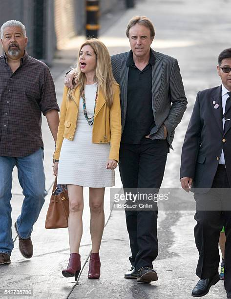 Susan Yeagley and Kevin Nealon are seen at 'Jimmy Kimmel Live' on June 23 2016 in Los Angeles California