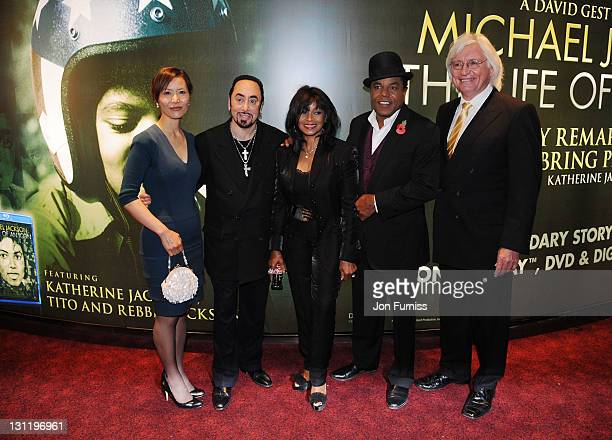 Susan Yu, David Gest, Rebbie Jackson and Tito Jackson and Thomas Mesereau Jr attend The World Premiere of Michael Jackson: The Life Of An Icon at The...