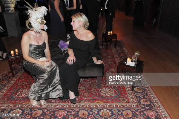 Susan Ziwot and Bridgette Jagger attend VIP MASKED BALL for Susan G Komen Headlined by Sir Richard Branson Katie Couric Cornelia Guest HM Queen Noor...