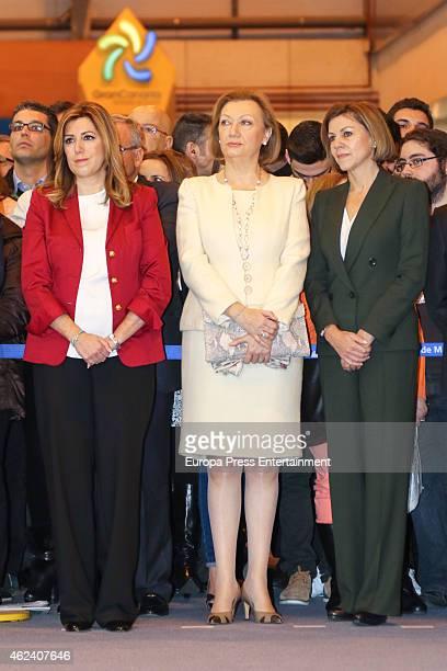 Susana Diaz Luisa Fernanda Rudi and Maria Dolores de Cospedal attend 'FITUR' International Tourism Fair opening at Ifema on January 28 2015 in Madrid...