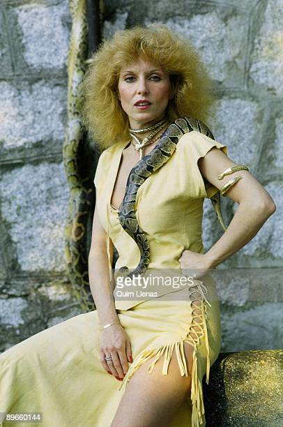 Susana Estrada actress With a snake around her neck
