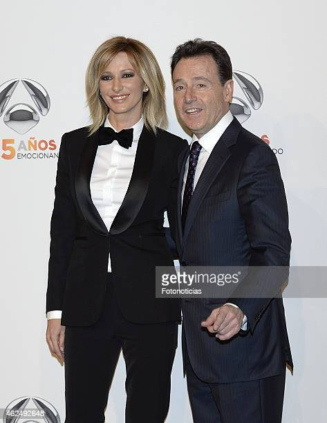 Susana Griso and Matias Prat attend 'Antena 3' 25th Anniversary Reception at the Palacio de Cibeles on January 29 2015 in Madrid Spain