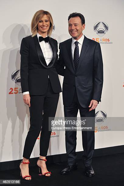 Susana Griso and Matias Prats attends 'Antena 3' 25th Anniversary Reception at the Palacio de Cibeles on January 29 2015 in Madrid Spain