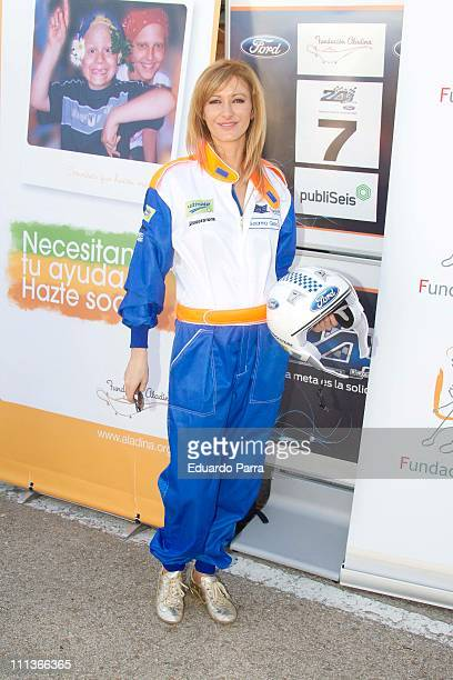 Susana Griso attends charity race '24 horas Ford' at Jarama circuit on April 1 2011 in Madrid Spain