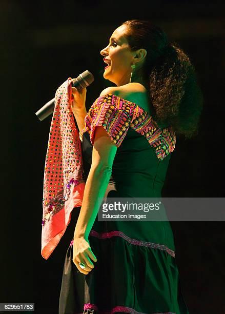 Susana Harp Sings During The Guelaguetza Festival In July Oaxaca Mexico