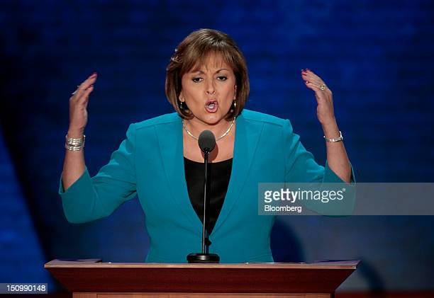 Susana Martinez governor of New Mexico speaks at the Republican National Convention in Tampa Florida US on Wednesday Aug 29 2012 Representative Paul...