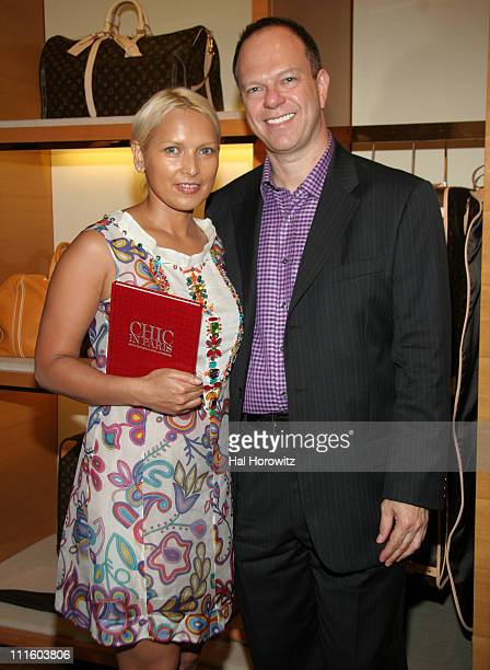 Susana Parra and David Kaminsky during Louis Vuitton's Chic in Paris Book Party at Louis Vuitton Store in New York City New York United States