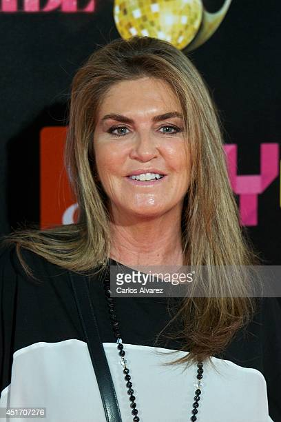 Susana Uribarri attends the Shangay Pride concert at the Vicente Calderon stadium on July 4 2014 in Madrid Spain