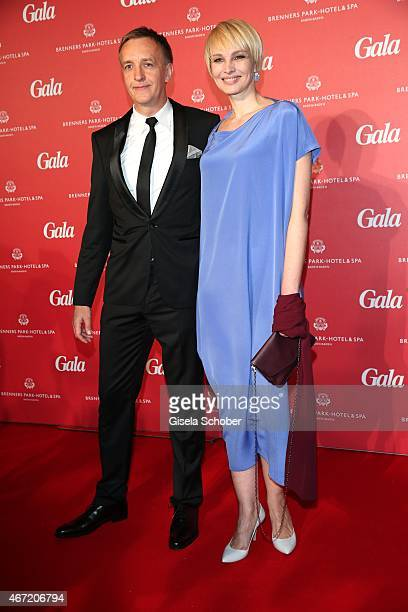 Susann Atwell and her boyfriend Stefan Siemer during the Gala Spa Awards 2015 at Brenners ParkHotel Spa on March 21 2015 in BadenBaden Germany
