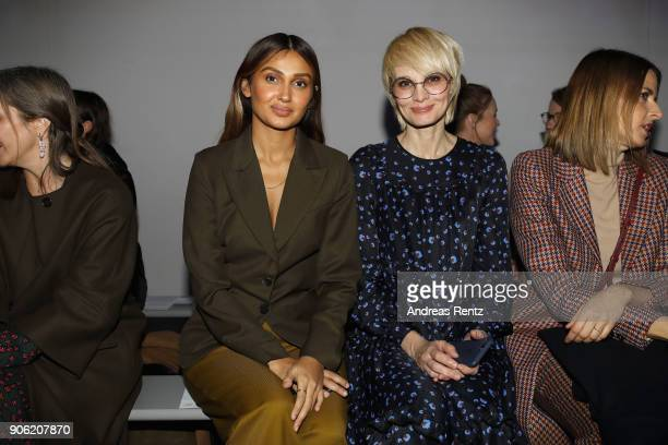 Susann Atwell and Wana Limar attend the Odeeh Defile during 'Der Berliner Salon' AW 18/19 on January 17 2018 in Berlin Germany