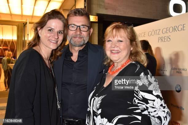Susann Uplegger Matthias Freihof and Franziska Troegner attend the Goetz George Award at Astor Film Lounge on August 19 2019 in Berlin Germany