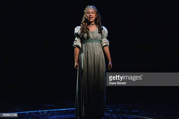 Susanna Cork on stage at the 20th Anniversary Celebration of Les Miserables show at the Queens Theatre on October 8 2005 in London England