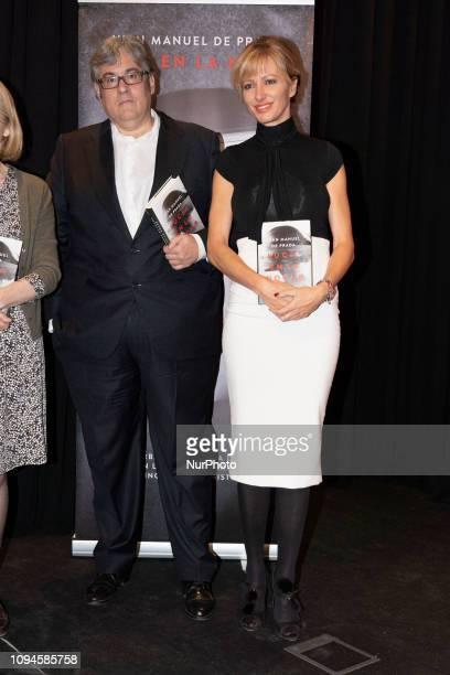 Susanna Griso and Juan Manuel de Prada attends the presentation of the book LUCIA EN LA NOCHE in madrid Spain February 6 2019