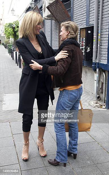 Susanna Griso and Maria Zurita are seen on April 23 2012 in Madrid Spain
