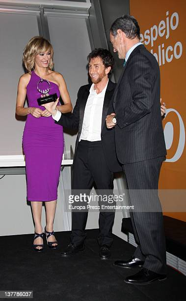 Susanna Griso and Pablo Motos attend 'Espejo Publico' 2012 Awards on January 26 2012 in Madrid Spain