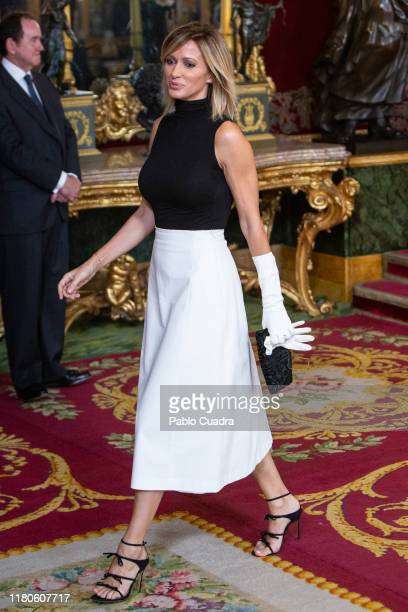 Susanna Griso attends a reception at the Royal Palace during the National Day on October 12, 2019 in Madrid, Spain.