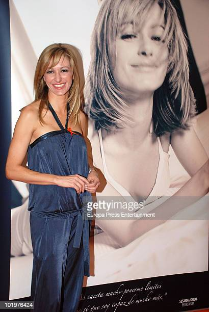 Susanna Griso attends the opening of the pictures exhibition 'Mujeres al natural' organized by Sandra Ybarra Foundation at Sexta Avenida Shopping...