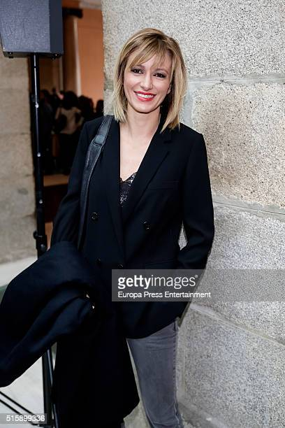 Susanna Griso attends the presentation of Leopoldo Lopez's book 'Imprisoned But Free' at Madrid Goverment headquarters on March 15 2016 in Madrid...
