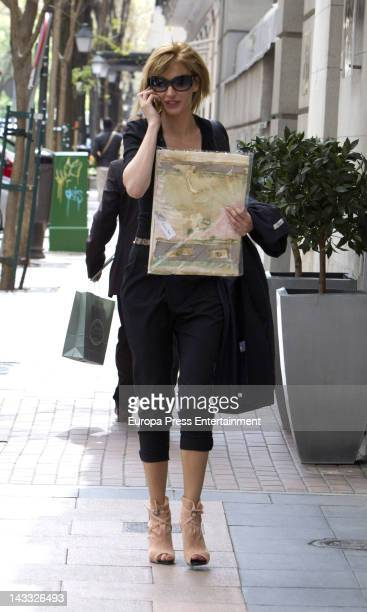 Susanna Griso is seen on April 23 2012 in Madrid Spain