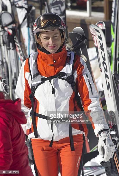 Susanna Griso is seen on December 31 2014 in Baqueira Beret Spain