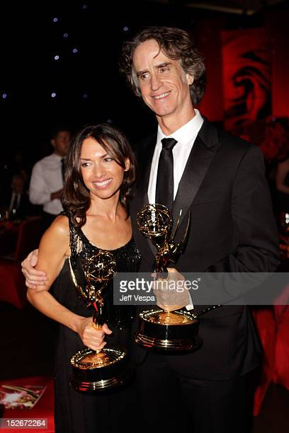 Susanna Hoffs and director Jay Roach attends the 64th Primetime Emmy Awards Governors Ball at Los Angeles Convention Center on September 23 2012 in...