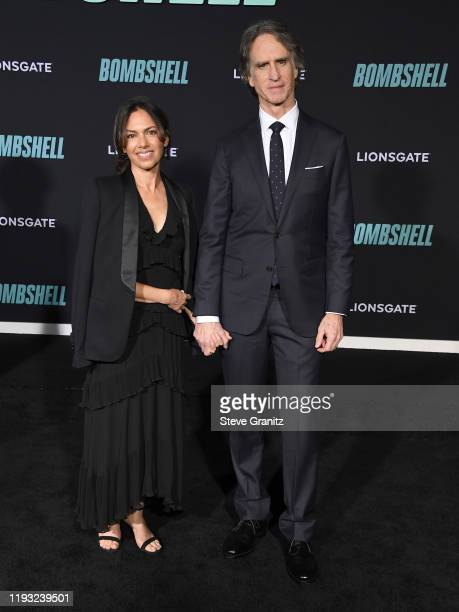 Susanna Hoffs and Jay Roach arrives at the Special Screening Of Liongate's Bombshell at Regency Village Theatre on December 10 2019 in Westwood...