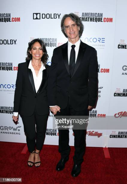 Susanna Hoffs and Jay Roach attend the 33rd American Cinematheque Award Presentation Honoring Charlize Theron at The Beverly Hilton Hotel on November...