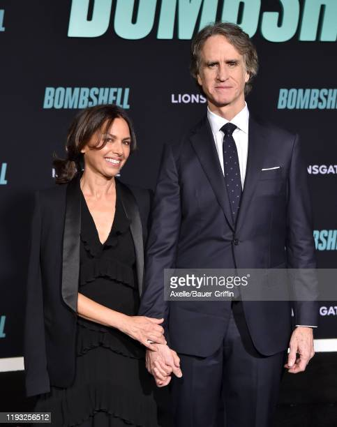 Susanna Hoffs and Jay Roach attend the special screening of Liongate's Bombshell at Regency Village Theatre on December 10 2019 in Westwood California