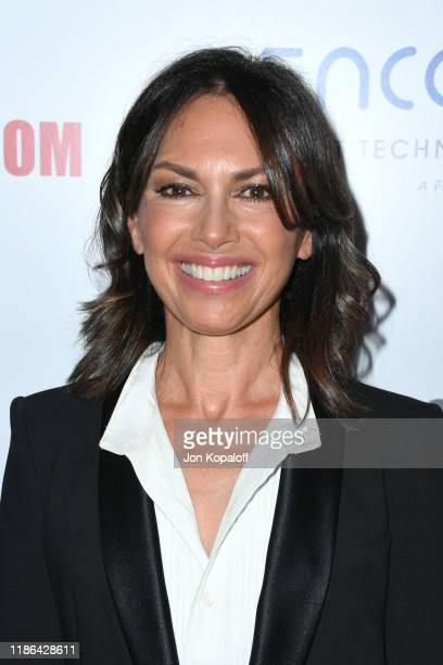 Susanna Hoffs attends the 33rd American Cinematheque Award Presentation Honoring Charlize Theron at The Beverly Hilton Hotel on November 08 2019 in...