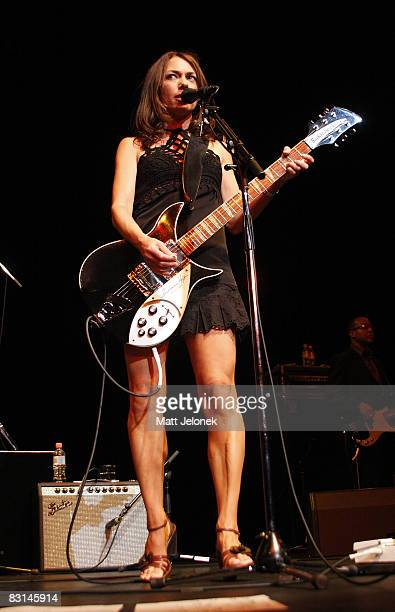 Susanna Hoffs of the band The Bangles performs on stage at the Burswood Theatre on October 6 2008 in Perth Australia