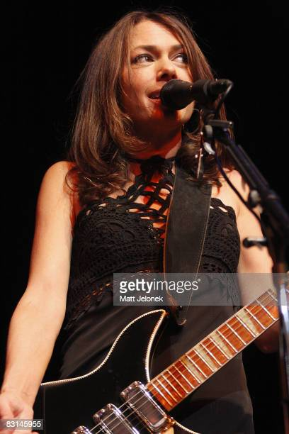 Susanna Hoffs of the band The Bangles performs on stage at the Burswood Theatre on October 6, 2008 in Perth, Australia.