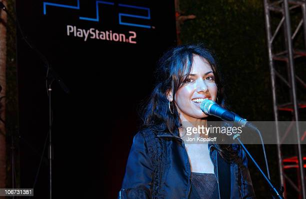 Susanna Hoffs of The Bangles during PlayStation 2 Bungalow Beach Party at Viceroy Hotel in Santa Monica California United States