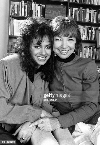 Susanna Hoffs of the pop music group 'The Bangles' with her mother Tamar Ruth in Los Angeles California April 23 1987
