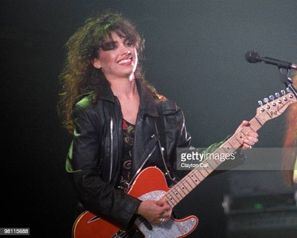 Susanna Hoffs performing with the Bangles at the Warfield Theater in San Francisco on April 17 1989