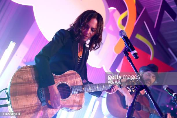 Susanna Hoffs performs at MADE Rodarte Event Presented By Mastercard at Milk Studios on August 01 2019 in Los Angeles California