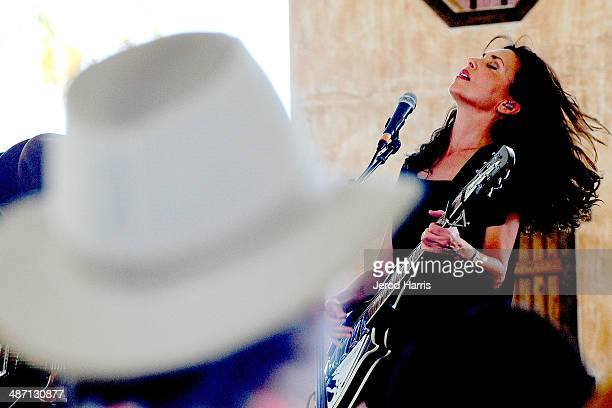 Susanna Hoffs performs at the 2014 Stagecoach California's Country Music Festival Day 3 at the Empire Polo Club on April 27 2014 in Indio California