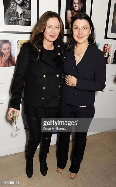 Susanna Kapoor and Allegra Donn attend a Tsunami relief fundraiser hosted by Jeanne Marine at Massato London on March 21 2013 in London England