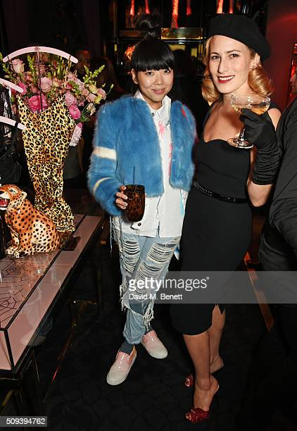 Susanna Lau and Charlotte Dellal attend an intimate cocktail event hosted at Agent Provocateur Grosvenor Street boutique to celebrate the launch of...