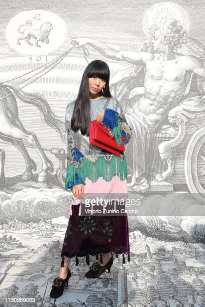 Susanna Lau arrives at the Gucci show during Milan Fashion Week Autumn/Winter 2019/20 on February 20 2019 in Milan Italy