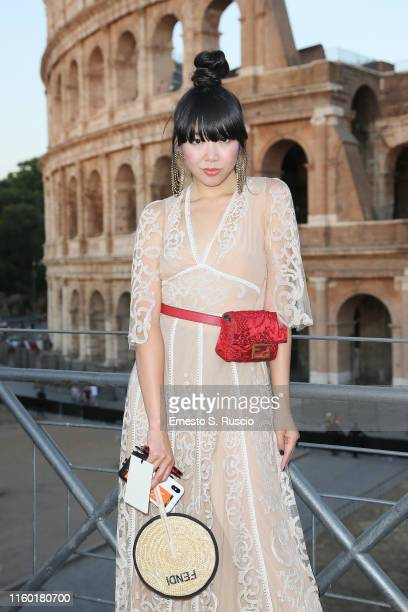 Susanna Lau attends the Cocktail at Fendi Couture Fall Winter 2019/2020 on July 04 2019 in Rome Italy