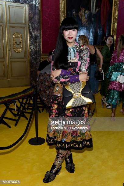 Susanna Lau attends the Gucci Cruise 2018 fashion show at Palazzo Pitti on May 29 2017 in Florence Italy