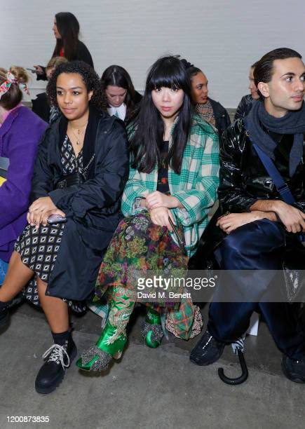 Susanna Lau attends the Marques'Almeida show during London Fashion Week February 2020 at The Old Truman Brewery on February 15 2020 in London England